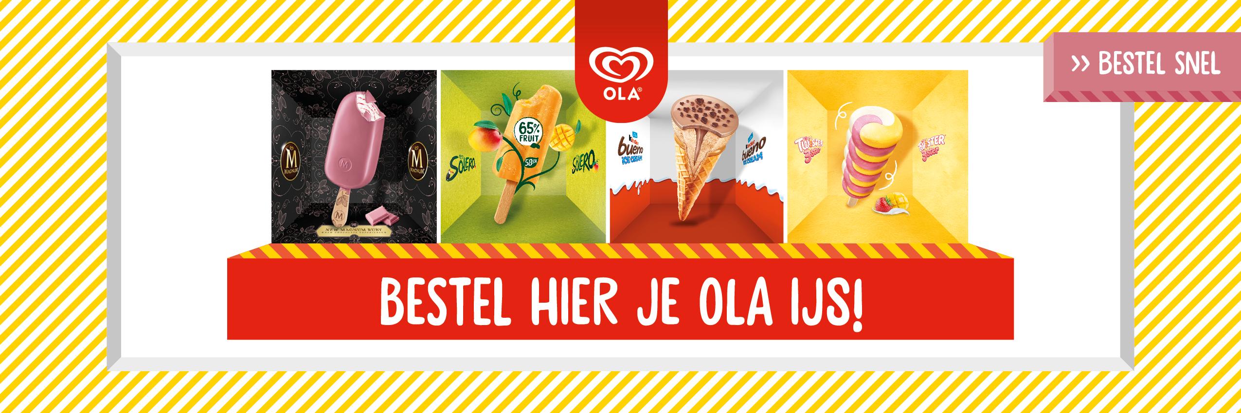 OLA nieuwe smaken 2020 banner